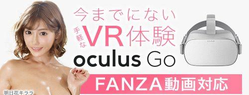 FANZAのOculusGoの特集ページ画像